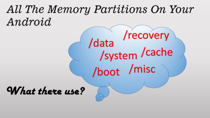 all the memory partitions on your Android