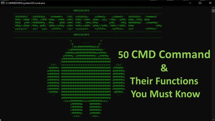 50 CMD Command & Their Functions You Must Know