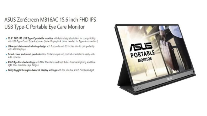 ASUS MB16AC specifications