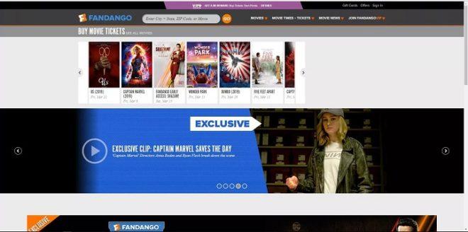 Fandango website how to book movie ticket1