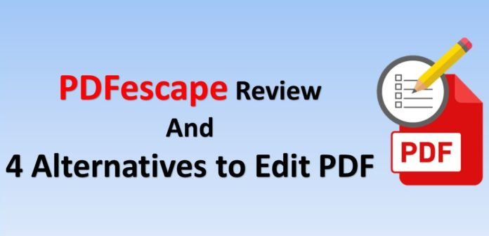 PDFescape Free PDF Editor Review and its Alternatives