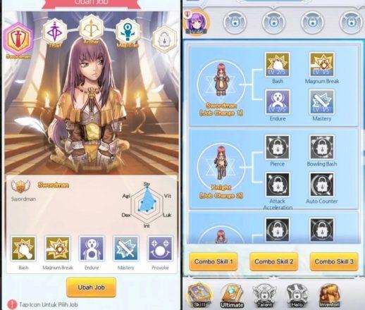 Ragnarok Frontier Elements menu
