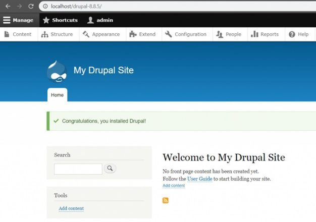 How To Install Drupal on Hosting, Local Host (Xampp) 10