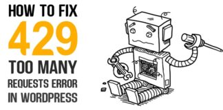 how to fix error 429 too many request wordpress