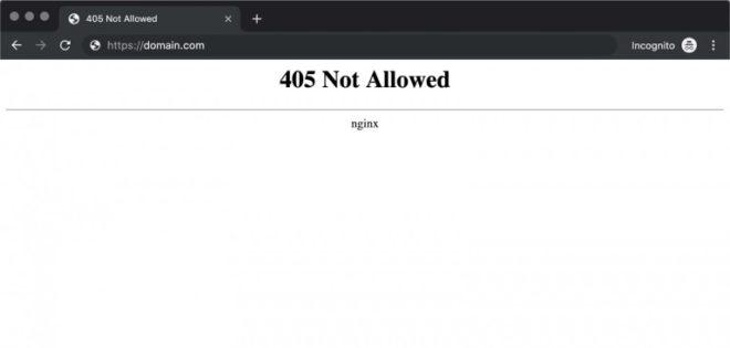 Fix Error 405 Method Not Allowed on WordPress 1