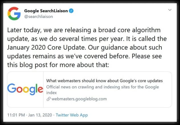 Latest Google Algorithm Update for SEO in 2020 1