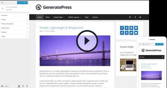 Review of GeneratePress Premium Themes
